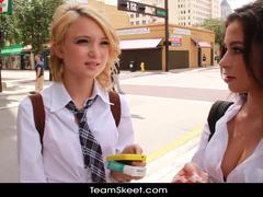 Teen girlfriends got unbelievable offer from fucker