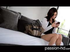 Girl records her nub and gets hard fuck
