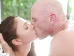 Cute and sexy college chicks got caught in private pool and fucked up hard