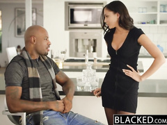 Steaming hot young brunette Ariana Marie charms and fucks hard handsome black guy