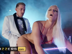 Steaming hot strip dancer chick Blanche Bradburry got fucked in the ass on stage