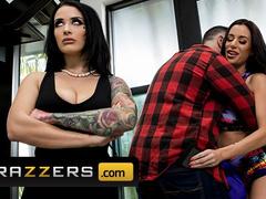 Wonderful brunette girlfriends Gia Dimarco and Katrina Jade are having sensual lesbian sex