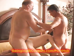 Mature fags are enjoying rough bisexual orgy fuck with hot chicks